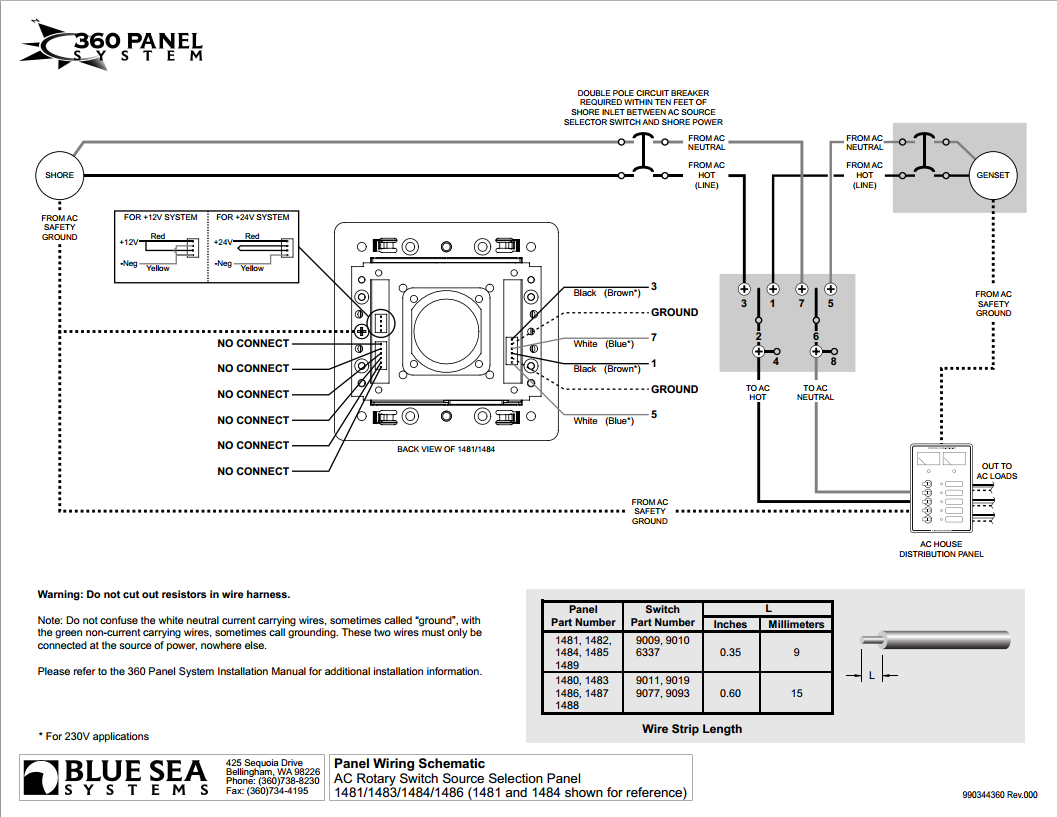 1481 1483 1484 1486 schematic blue sea systems 1481 360 series panel 120vac rotary 32a off 2  at soozxer.org