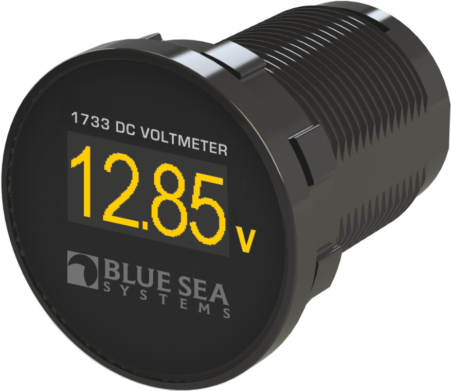 Dc Digital Volt Meter : Blue sea panel mount mini dc digital voltmeter with