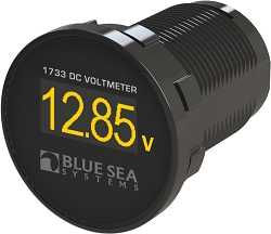 Blue Sea 1733 Mini Digital DC Voltmeter with OLED display