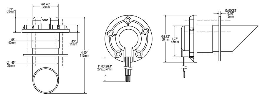 blue sea systems 1810 ultrasonic tank sensor vam 32 u0026quot  for