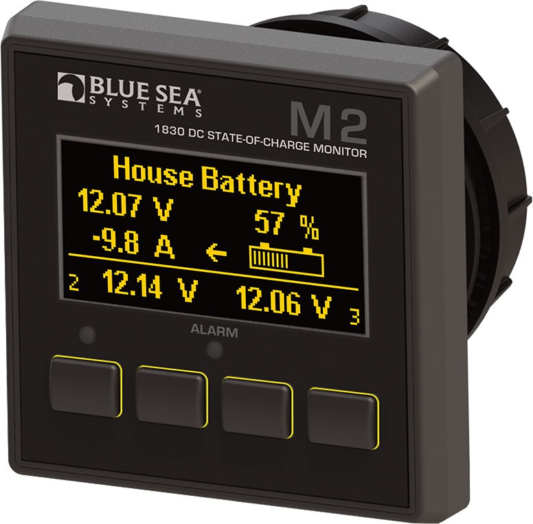 State Of Charge Battery Monitor : Blue sea panel mount dc digital multimeter with oled