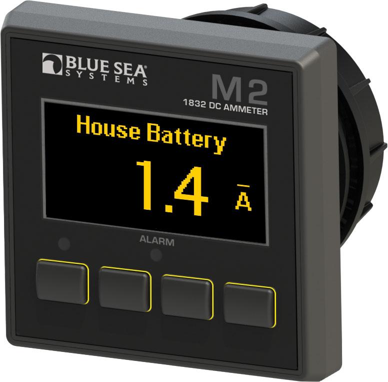 Digital Ammeter Panel Mount : Blue sea panel mount dc digital ammeter with oled