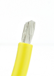 Marine Tinned Battery Cable 6 awg Yellow - Per Foot