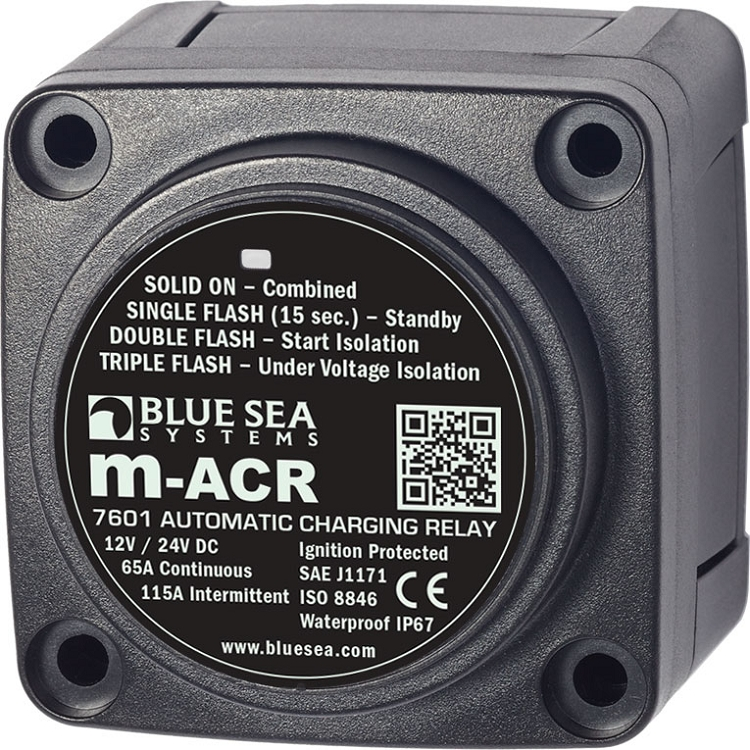 blue sea systems 7601 mini acr automatic charging relay. Black Bedroom Furniture Sets. Home Design Ideas