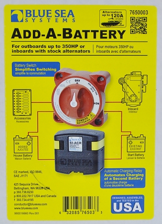 blue sea systems add a battery system with acr and switch p n 7650 Blue Sea Systems Battery Switch Wiring Diagram blue sea systems 7650 add a battery system with automatic charge relay and battery switch blue sea systems battery switch wiring diagram
