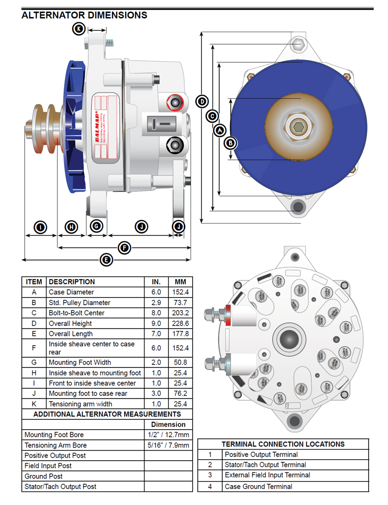 BAL94LY 140 24 IG 1 balmar 94ly 140 24 ig large case alternator for yanmar 6ly engines Balmar Alternator Wiring Diagram at aneh.co