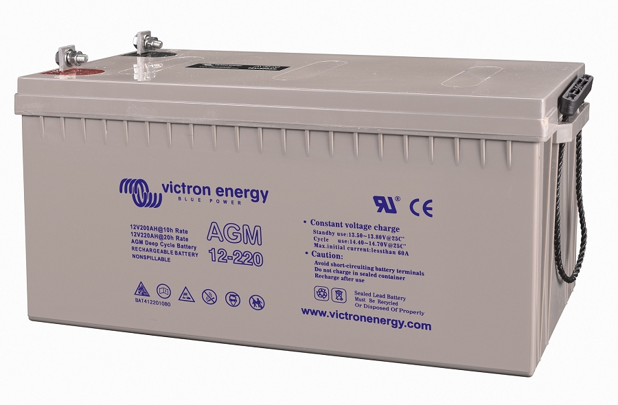 Victron Energy 12v 220ah Agm Deep Cycle Battery