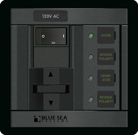 blue sea systems 1208 360 series panel source select 120vac 30a rr