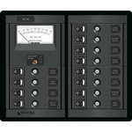 Blue Sea 1464 Modular 360-Series DC Panel 12 pos Switch CLB + V M S