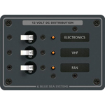 Blue Sea 8025 DC Panel with 3 Circuit Breakers