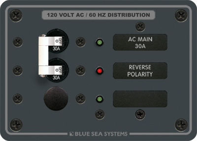 blue sea systems 8029 panel 120vac 1 pos