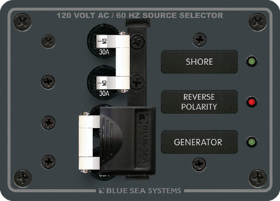 Blue Sea Systems 8032 Panel Source Select 120vac 30a