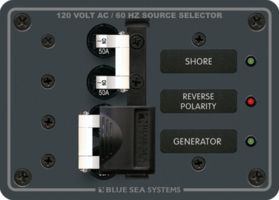 blue sea systems 8061 120vac source select panel 50a