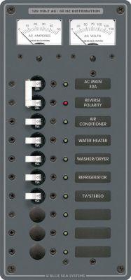 blue sea systems 8074 panel 120vac 10 pos v a w