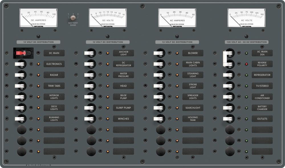 blue sea systems 8095 panel 10 120vac 30 12vdc 40 pos