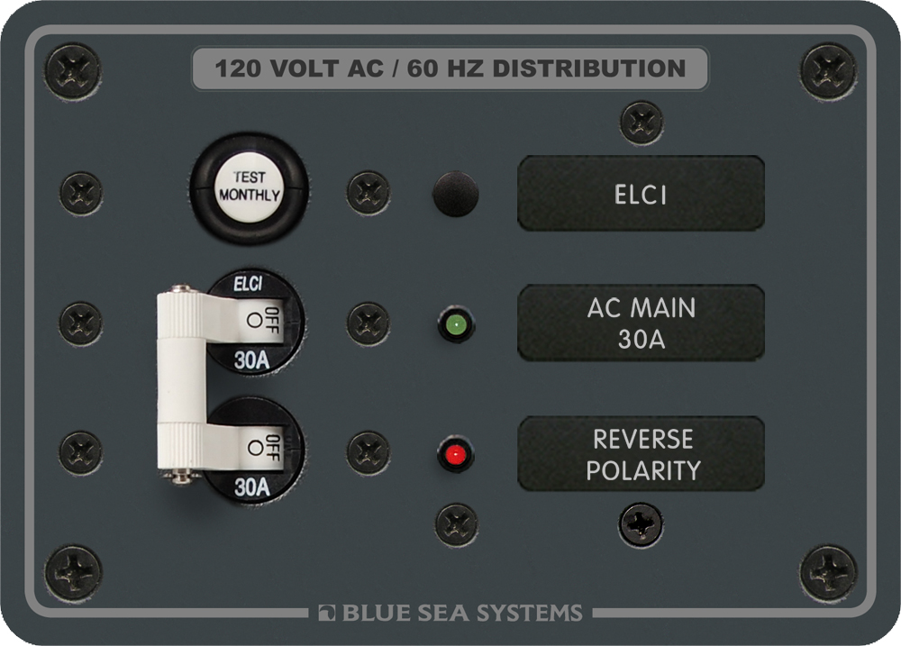 Blue Sea Systems 8100 Elci Main Panel With 30a Double Pole