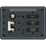 Blue Sea 8100 ELCI Main Panel with 30A Double Pole Breaker