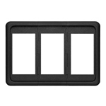Blue Sea 8259 Contura 3 pos Mounting Panel Black