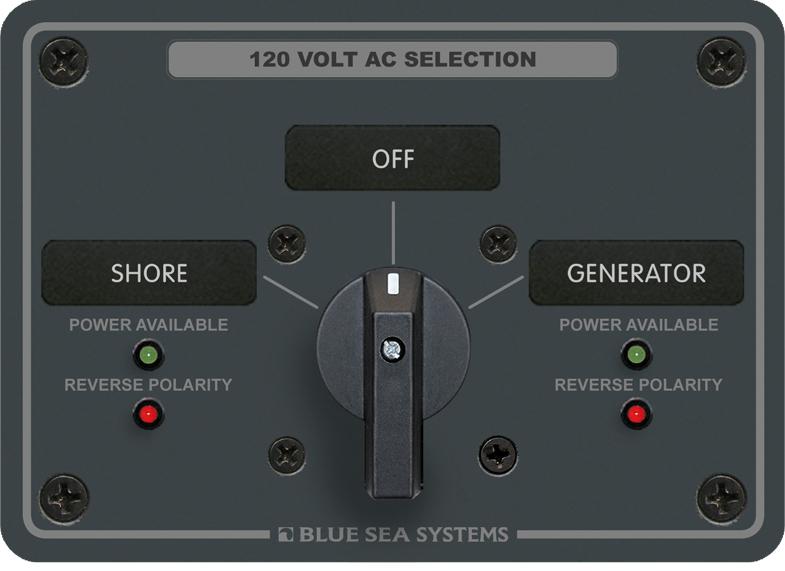 blue sea systems 8367 ac rotary panel 120vac 32a 2