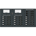 Blue Sea 8378 DC Panel 18 Position with Meters