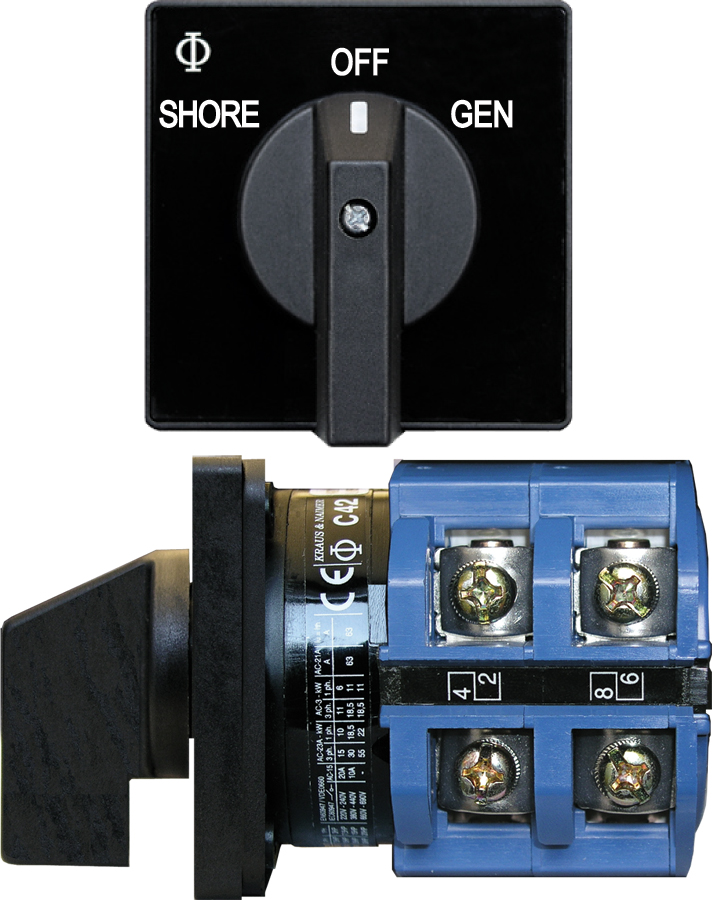 Blue Sea Systems 9011 Ac Selector Switch Ac 120vac 63a Off 2