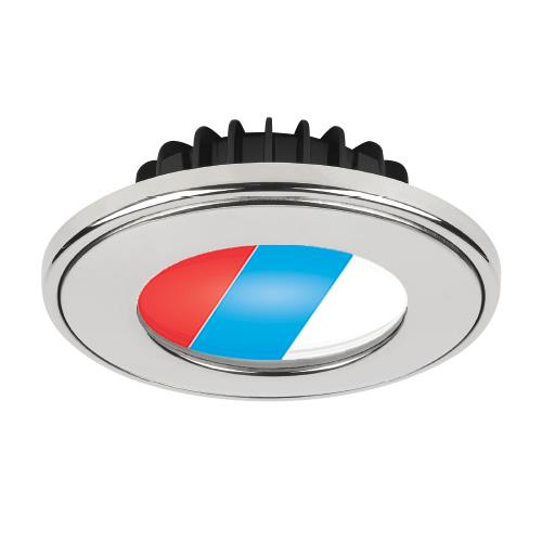 Imtra ILIM64701 Current PowerLED Tri-Color, 10-40VDC, Polished SS,Red/Blue/Warm, 5.0W,