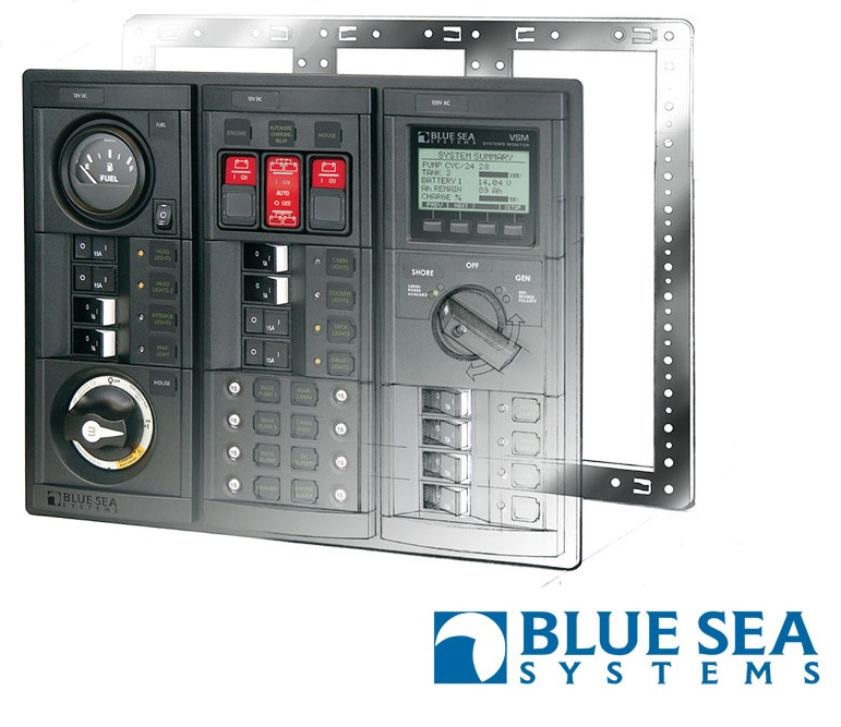 Blue Sea Systems Custom Made Circuit Breaker Panel
