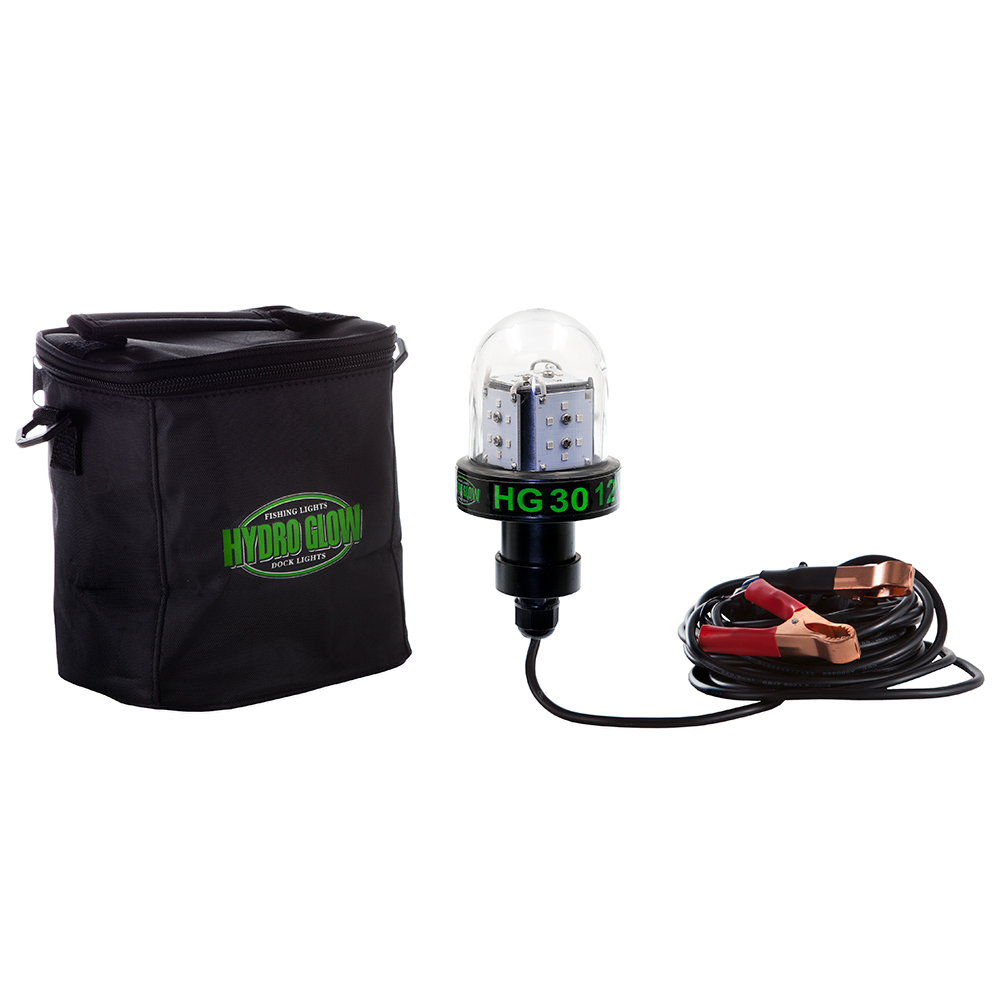 hydro glow hg30 30w/12v deep water led fish light - green globe style, Reel Combo