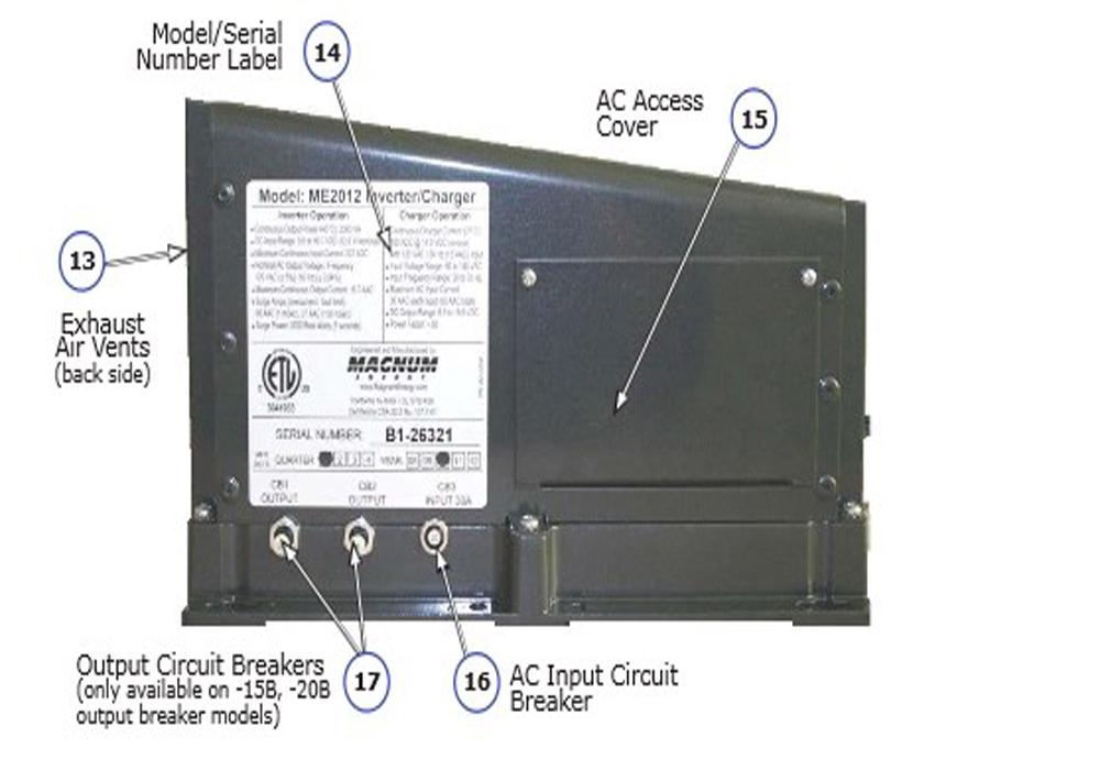 magnum me3112 3100w inverter 12v w 160a pfc charger