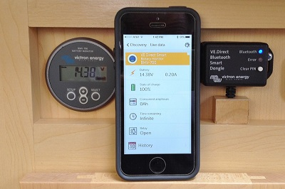 Review of BMV Energy Monitor and MPPT with smart phone display