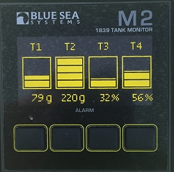Blue Sea 1839 M2 Digital Tank Monitor for four tanks