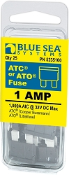 Blue Sea 5235100 ATO/ATC Fuse 1 Amp (25 pack)