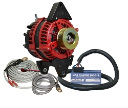 Balmar AT-DF-200-K6-KIT alternator kit with Max Charge regulator