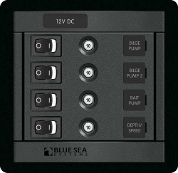 Blue Sea 1455 Modular 360-Series DC Panel 4 pos Switch CLB S