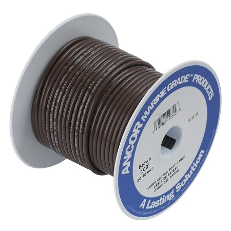 Ancor 104210 Marine Tinned wire 14 awg Brown - 100 ft roll