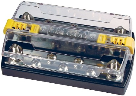 Blue Sea Systems Tinned Copper Dual Busbar With Cover P N 2722