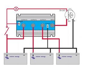 Victron Energy Argofet 200 Amp    Battery    Isolator for three