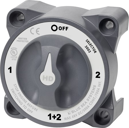 Blue Sea 3003 Heavy Duty Battery Selector Switch with AFD