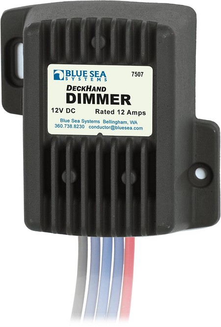 Blue Sea 7507 Deck Hand Dimmer and Switch 12 Amp