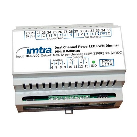 Imtra ILIM80130 PowerLED Dimming Control Module, 2-Channel10-40VDC, 7A x 2 (14A combined),