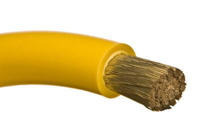 Marine Tinned Battery Cable 2/0 awg Yellow - per Foot