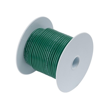 Ancor 104210 Marine Tinned wire 14 awg Green - 100 ft roll