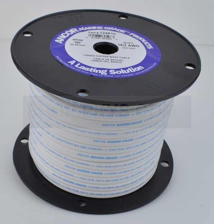 Ancor 14/2 Duplex Safety Boat Cable 14/2 - 100 ft Roll