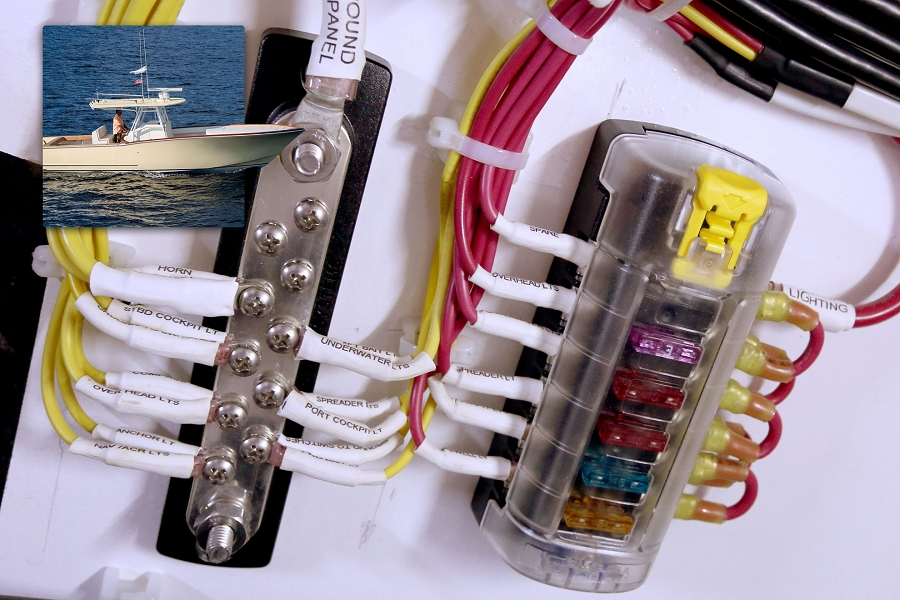 dual 12v toggle switch wiring diagram blue sea systems 2301 tin plated copper busbar with 10  blue sea systems 2301 tin plated copper busbar with 10
