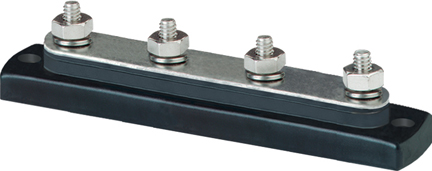 Blue Sea 2303 BusBar 4x1/4in Stud Common Bus Bar