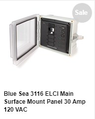 Blue Sea 3116 Surface Mount  ELCI Panel
