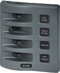 Blue Sea 4305 WeatherDeck Switch Only Panel 4 position