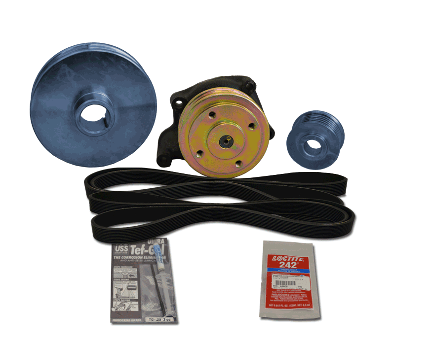 Balmar 48-PSP-410-A Pulley Kit for Perkins 4107, 4108