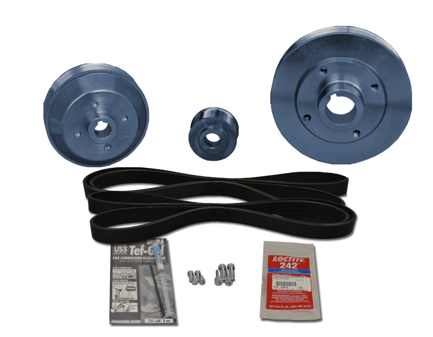 Balmar 48-WSP-46 Pulley Kit  for Westerbeke 46 (uses K6 belt)