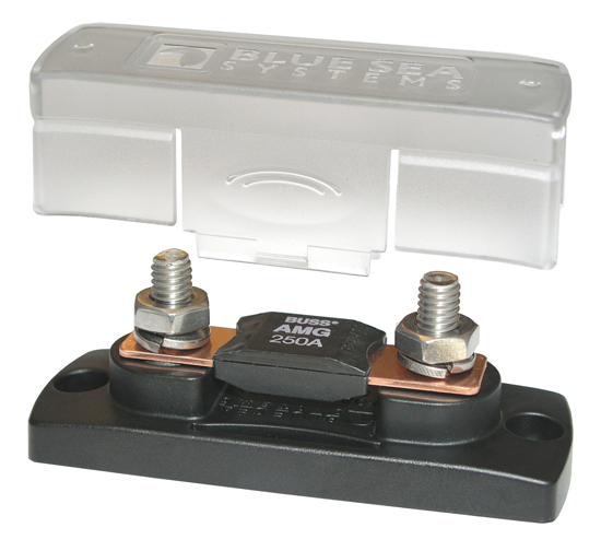 Blue Sea 5001 Mega Fuse Block with Cover for 100-300A Fuses